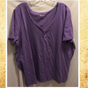 Size 26/28 2X Roamans Shirt Purple